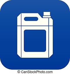 azul, jerry, plástico, lata, digital, icono