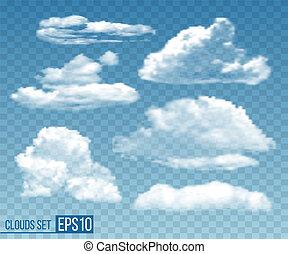 azul, jogo, cloudsin, céu, realístico, transparente
