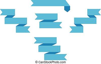 azul, jogo, imagem, banners., vetorial, fitas