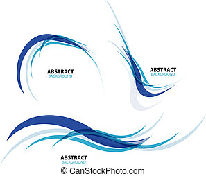 azul, jogo, linhas, fluir, onda