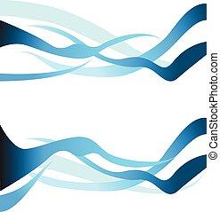azul, jogo, onda, vetorial, projete elemento