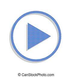 azul, juego, illustration., ciclamino, letrero de gas de neón, pol, vector., icono