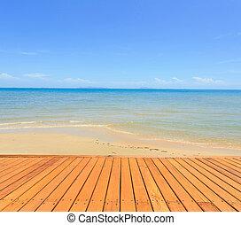 azul, koh, cielo, tropical, mar, tailandia, samui