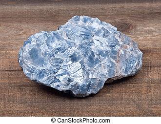 azul, kyanite, natural, pedaço, cru, branca