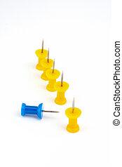 azul, líder, foco, amarela, equipe