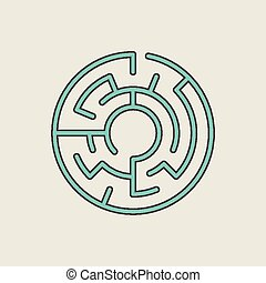 azul, labirinto, circular