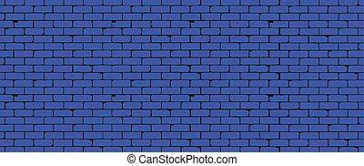 azul, largo, parede, fundo