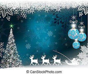 azul, lento - mudanza, plano de fondo, claus, venado, santa, navidad