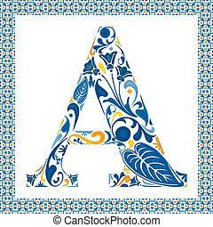 azul, letra