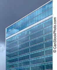 azul ligero, edificio