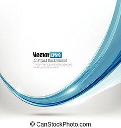 azul, ligth, resumen, curva, ilustración, onda, 002, vector, plano de fondo, elemento