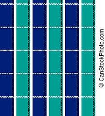 azul, listrado, branca, verde, fundo, pretas