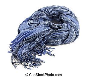 azul, listrado, echarpe