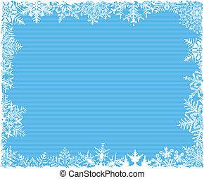 azul, listrado, snowflake, fundo