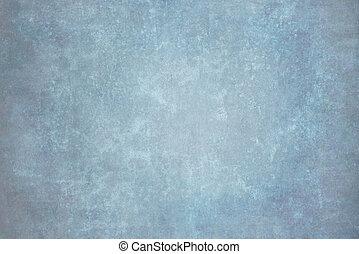 azul, lona, tela, pintado, muselina, tela, estudio, o, fondo