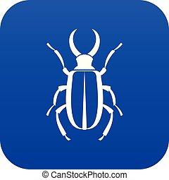 azul, lucanus, icono, cervus, digital