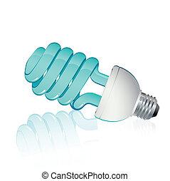 azul, luz fluorescente
