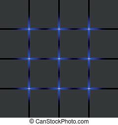 azul, luzes néon, bandeira