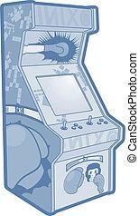 azul, máquina