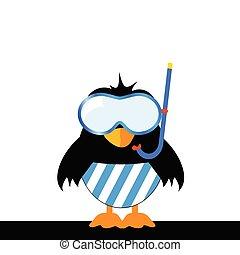 azul, máscara que zambulle, pájaro, calzoncillos