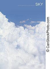 azul, macio, tiro., céu, nuvens, ar