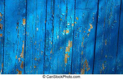 azul, madeira, fundo, textura, pranchas
