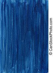 azul, mano, pintado, resumen, acuarela, plano de fondo