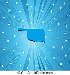 azul, mapa, oklahoma
