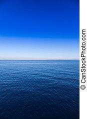 azul, mar, e, céu, horizonte, fundo, dia, tiro