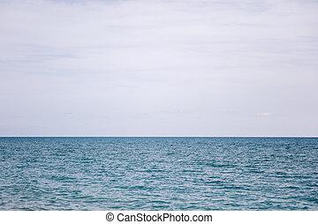 azul, mar, horizonte