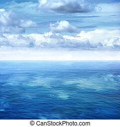 azul, mar, sky.