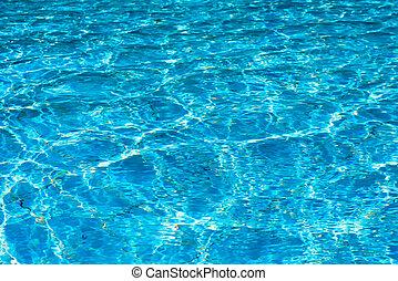 azul, marco completo, agua, horizontal, piscina, natación