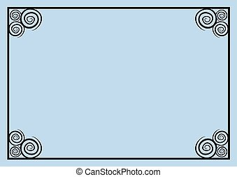 azul, marco, plano de fondo