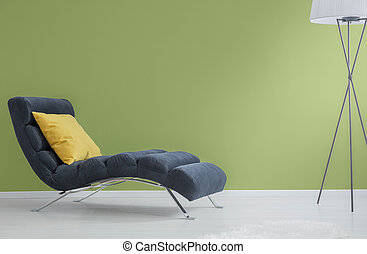 azul marinho, longue, chaise