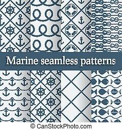 azul, marinho, seamless, padrões, jogo