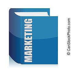 azul, marketing, livro, ilustração