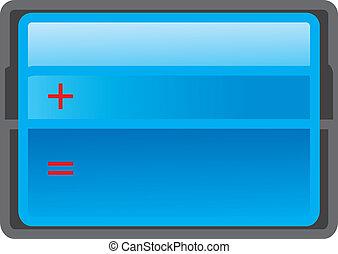 azul, matemáticas, botão, tabela, ícone