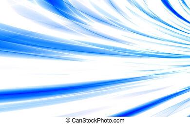 azul, matizes, cor, abstratos, transbordante, fundo, branca, ondas