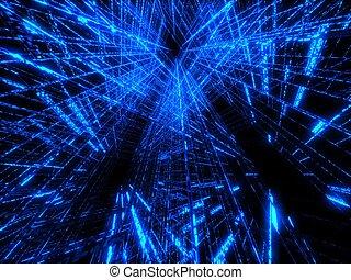 azul, matriz