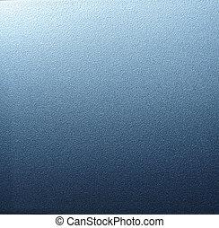 azul, metal.