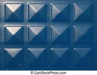azul, metal, fundo