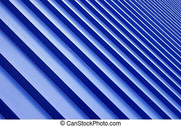 azul, metal, telhado