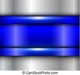 azul, metalic, fundo
