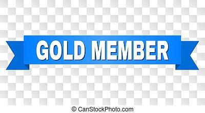 azul, miembro, cinta, oro, subtítulo
