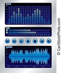azul, misturador de som