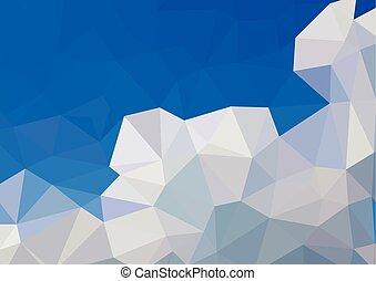 azul, modelos, ilustração negócio, criativo, polygonal, fundo, vetorial, desenho, branca, mosaico
