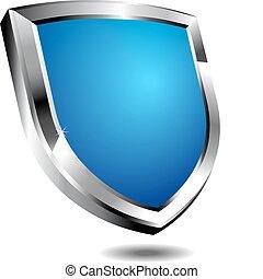 azul, moderno, protector