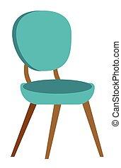 azul, modernos, cadeira, vetorial, caricatura, illustration.