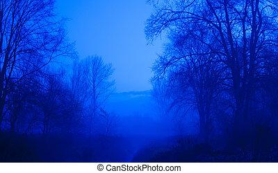 azul, momento