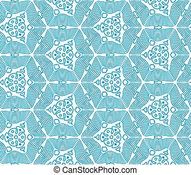 azul, monocromático, seamless, padrão